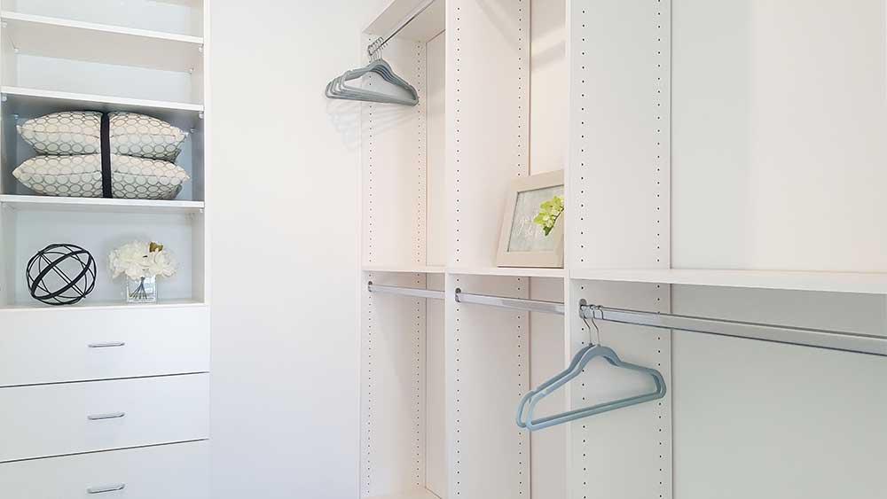 Spacious closet interior